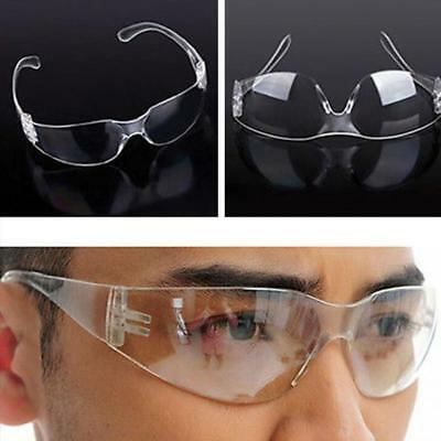 12 x New Clear Lens Protective Safety Glasses Eye Protection Goggles Lab UK