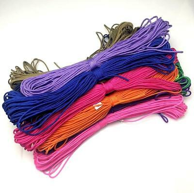 New Color!50-100FT 2mm Paracord Micro Cord Parachute Cord Tent Lanyard Rope