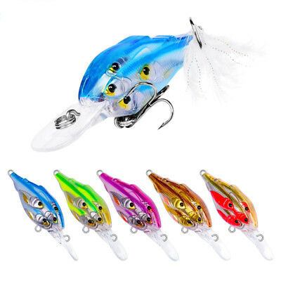 Group  Fishing Lures Ball Crankbait Baits 7cm Crank 5 Colors Hook 8 Funny Tackle