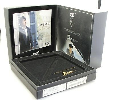 Montblanc Meisterstück A Frederic Chopin  EMPTY BOX with Lang Lang CD , no pen