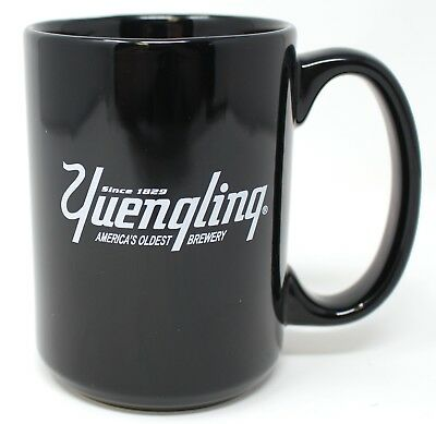 Yuengling  Since 1829 Americas Oldest Brewery Coffee Cup Mug Black w/ White Logo