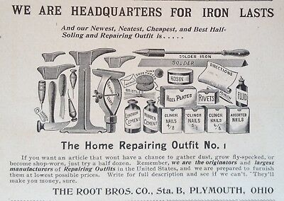 1895 Ad(31)~The Root Bros. Co. Plymouth, Ohio. Home Repairing Outfit No.1