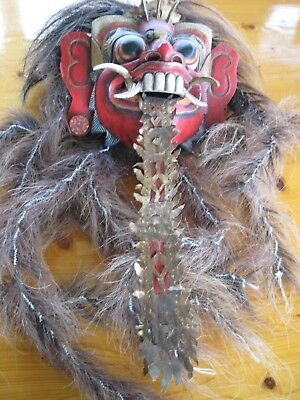 Mid-to-Late 20th Century Indonesian (Bali) Rangda the Witch Mask