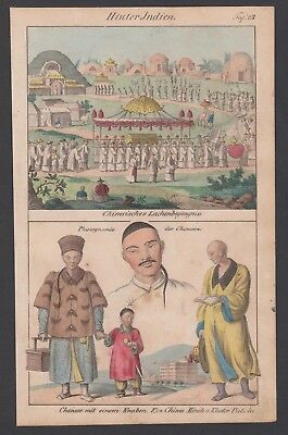 1830 Indien India China Mönch Trachten costumes Lithographie lithograph