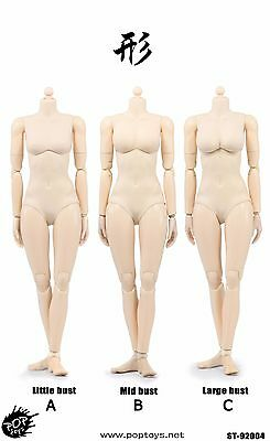 POPTOYS 92004 1/6 XING Series mid breast Plastic Joints woman Pale Body Toy