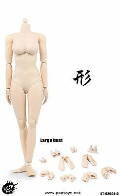 POPTOYS 92004 1/6 XING Series Big breast Plastic Joints woman Pale Body Toy