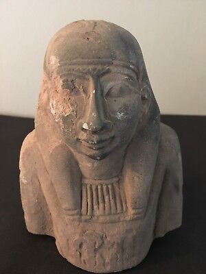 Rare Large Ancient Egyptian Queen Hatshepsut Bust(1479-1457 BC)