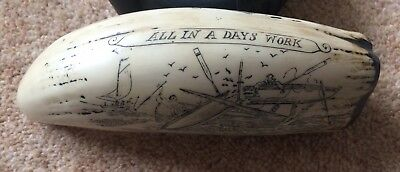 The Bark Veronica & All In A Days Work - Superb quality Reproduction Scrimshaw