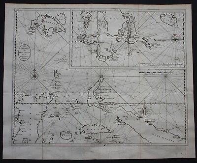 1726 Maluku islands Moluccas New Guinea Sulawesi Indonesia map Asia Valentijn