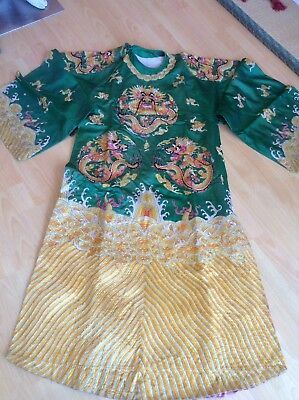 Antique Chinese Opera Dragon Robe Collectible Vintage Silk Embroidered Theater