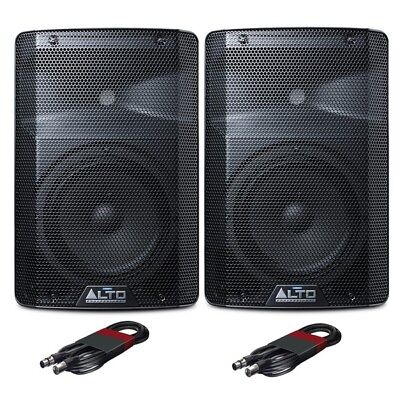 "Alto TX208 Active Powered 8"" DJ Disco PA Speaker (Pair) with FREE Cables"