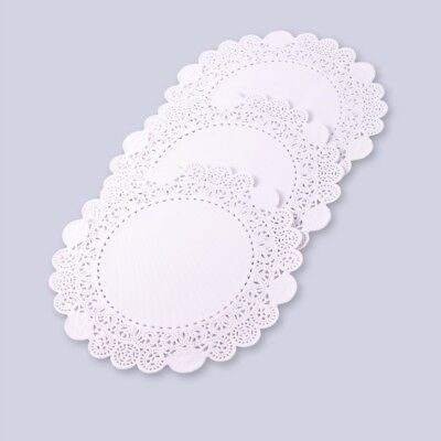 "250 x White 7"" Round Paper Lace Doilies Doyles For Plates and Parties"