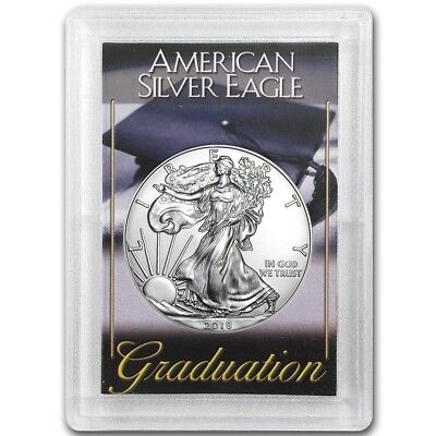 2018 American Eagle Silver Dollar Coin With Graduation Gift Case! Perfect Gift!