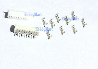 1.25mm Micro JST PicoBlade 9-Pin Female Connector Crimp & Straight Header x 50