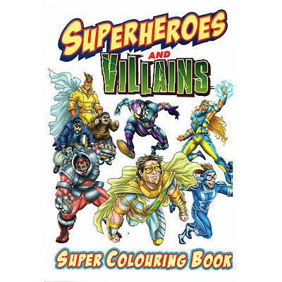 Super Heroes Color COLOURING BOOK