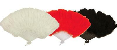 Burlesque Fancy Dress Costume Fluffy Feather Fan Marabou Soft Paris Flapper Girl