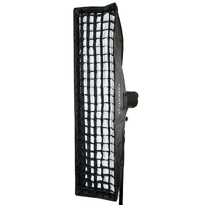 35x160cm S-Type Fit Large Studio Strobe Flash Strip Grid Softbox 13.7x 62.9""