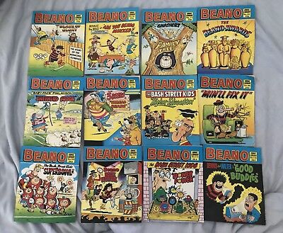 Joblot Collection Vintage Beano Comic Library Books Dandy PB 1980's