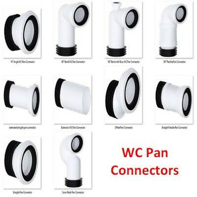 """Toilet WC Pan Connector 4"""" (110mm) Viva Offset,Flexible,Bend,Straight,Swan Neck"""