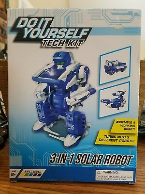 Do it yourself tech kit mini solar powered robot makes 3 types dino do it yourself tech kit solar robot ages 8 assemble working robot 3 in 1 solutioingenieria Gallery