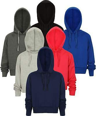 Cropped Hoodie Top Ladies Girls Pullover Hoodies Sweatshirt Hoody New Jogging