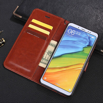 For Xiaomi Redmi 5 Plus Note 5 Pro Magnetic Flip Leather Wallet Card Case Cover