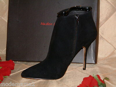 Maiden Lane Emmy Black Suede Pointed Toe Bootie Sz 11 **it's Bootie Time**