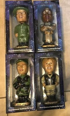 Stargate SG-1 Hand Painted Bobble Head Set Lot 4 #d to 1000 NEW