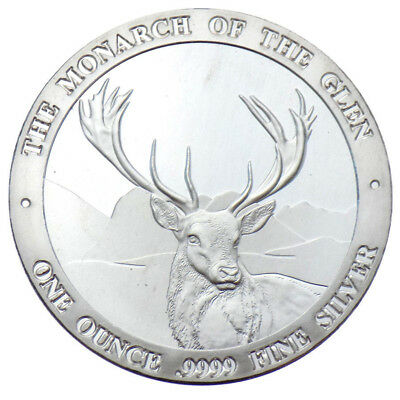 ONE Baird & Co. The Monarch Of The Glen 1oz .9999 Fine Silver Coin
