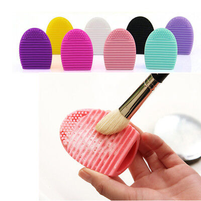 24x Silicone Makeup Brush Cleaner Salon Home Brushegg Cleaning Scrubber Glove