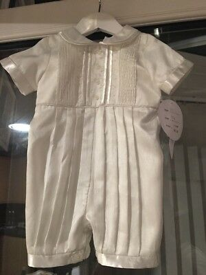 Sarah Louise Ivory Christening Outfit Bnwt 12 Months