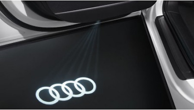 4G0052133G - Genuine Audi LED Puddle Lights Rings Logo - 2 x projector