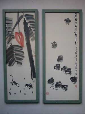 Pair of old Chinese prints.