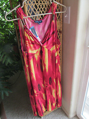 Jones New York Signature Sz XL Long Dress Stretch Poly/Spandex Sleeveless