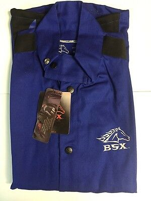 Revco BSX BXRB9C Blue FR Welding Jacket W/ Blue Flames (Large)