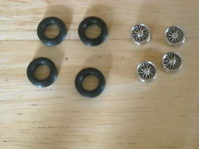 1/43rd scale chrome wire wheels by K & R Replicas