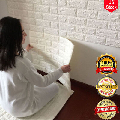 3D Brick Sticker Wallpaper Waterproof PE Foam Panel Decal TV Wall Look Very Nice