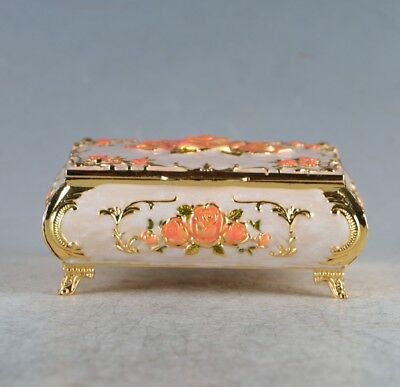 Chinese Exquisite Cloisonne Handmade Carved Jewelry Box JTL3040