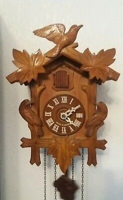 German Black Forest forester Cuckoo Clock (needs attention )