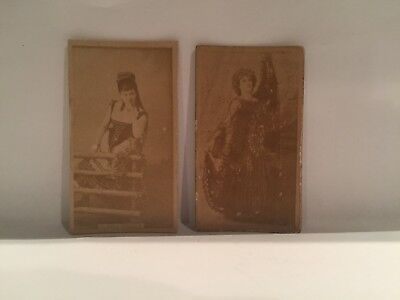1880's Sweet Caporal Actress Clara Poole Cigarette Tobacco Card + Bonus Card