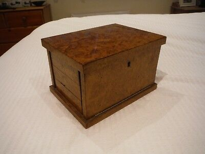 French Antique/Vintage small concertina wood (walnut) cabinet, five shelves.