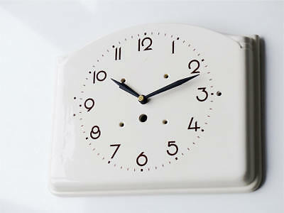 Antique german JUNGHANS kitchen clock wall old large vintage retro rare white