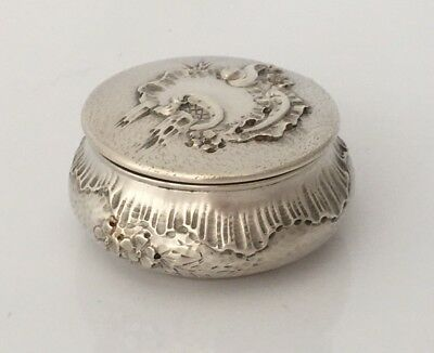 Antique French Solid Silver Trinket Box (R2955)