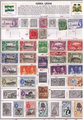 Sierra Leone,beautiful Lot Of Mint And Used Stamps, Cv:$45.00