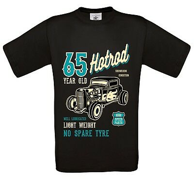 Funny 65 year Old Trucker Retro Truck Driver mens t-shirt top 65th birthday gift