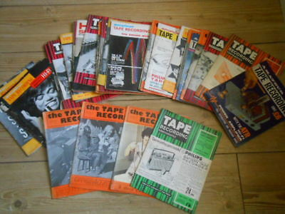 JOB LOT OF OVER 30 x TAPE RECORDING HI-FI MAGAZINES FROM 1960s RARE REEL TO