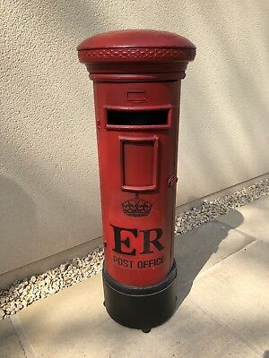 Royal Mail Post Box GR Red Vintage Post Box RED GR Post Box Aluminium