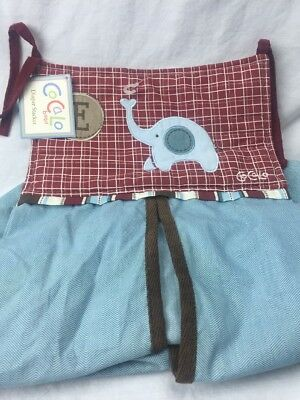 NWT CoCaLo Baby Diaper Stacker Jackson Collection ELEPHANT blue brown E