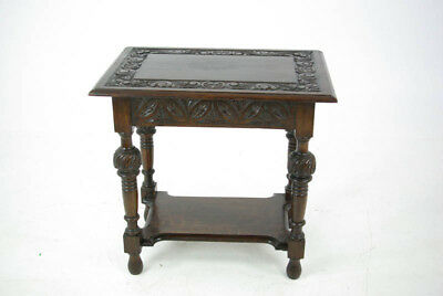 Carved Oak Table, Lamp Table, Jacobean, Antique Furniture, Scotland 1880, B979