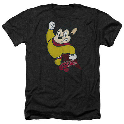 Mighty Mouse CLASSIC HERO Vintage Style Licensed Adult Heather T-Shirt All Sizes